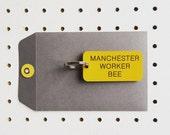 Manchester Worker Bee Industrial style Keyring Keytag Keyfob