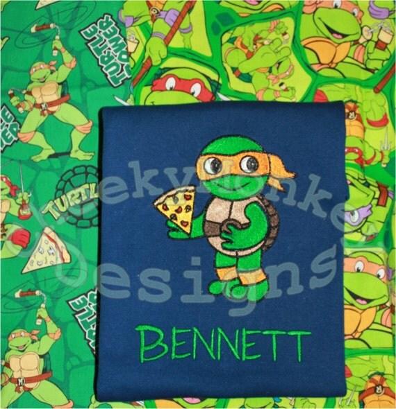 Free Mask Trendy Ninja Turtle Birthday Boy Tee Shirt