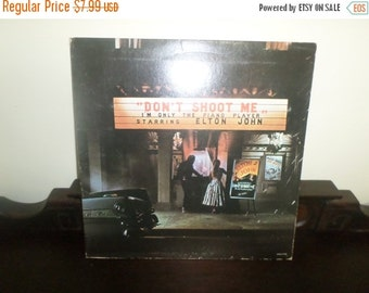 Save 30% Today Vintage 1973 LP Record Elton John Don't Shoot Me I'm Only The Piano Player Very Good Condition 4910