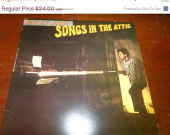 Save 30% Today Vintage 1981 LP Record Billy Joel  Songs in the Attic Columbia Records TC-37461 Excellent Condition 5196