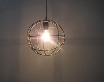 Vintage Industrial Pendant Light, Rusty Metal Hanging Light