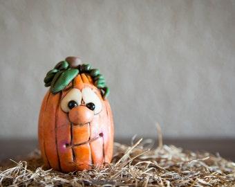 Mini Silly Pumpkin Figurine