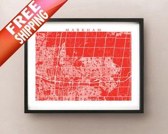 Markham Ontario Map Print