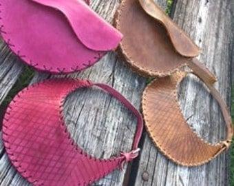 Leather Waist Bag & Visor Set