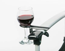 Wine glass cup holder for an outdoor folding camp bag chair. Perfect gift. The Wine Hook. Great Summer Gift