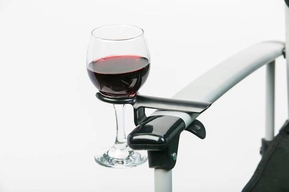 Wijnglashouder voor aan campingstoel