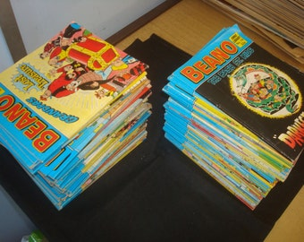 Set of 88 VG condition Beano Comic library Comics.
