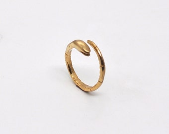 snake ring / serpent / brass or sterling silver