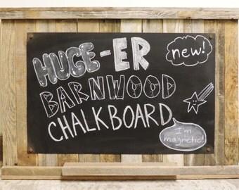 Huge(er) Barnwood Chalkboard