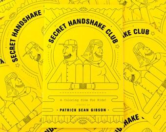 Secret Handshake Club - A Coloring Zine For Kids!