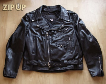 1970s XXL Branded motorcycle jacket