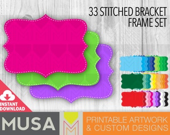 INSTANT DOWNLOAD / 33 / Multicolor / Bracket Frame Collection