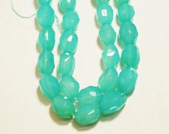 """16"""" Sea Blue Chalcedony Nugget Shape Bead"""