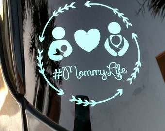 Mommy Life Decal // Breast Feeding Decal // Wear Baby Decal // #MommyLife Decal // Mom Life Decal // Tula Wear Baby Decal