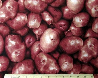 Farmers Market Vegetables Red Potatoes Fabric From RJR