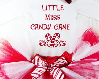 Miss Candy Cane Christmas Bodysuit Baby Girl Clothes Baby Girl Newborn Shirt New Baby Shirt Birth New Baby Coming Home Baby Shower #13