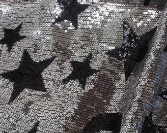 Silver Sequin fabric, Floral,Moon,Star Sequin Fabric,Dress Sequin Fabric,Multicolor Sequin Fabric