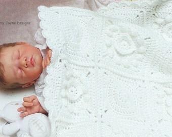 CROCHET PATTERN - Pure Love - Crochet Blanket Pattern  Baby Blanket Crochet Pattern Crochet Heart Blanket Pattern Granny Square Pattern Pdf