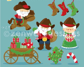 Cowboy Christmas Clipart