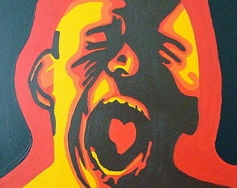 """Show Some Love Sale Catharsis--16""""x20"""" Acrylic Painting"""