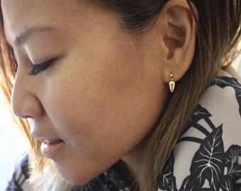 Dainty | Gold Arrowhead | Stud Earrings