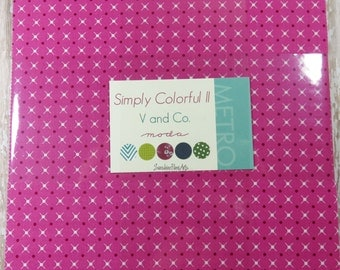"Simply Colorful II - Vanessa Christenson - V and Co - Moda - 20 Pieces - 10"" Squares - Junior Layer Cake Purple - 10850JLCP"