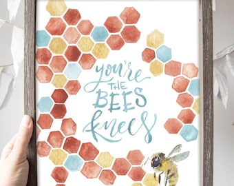 SALE // Bees Knees Print 11x14