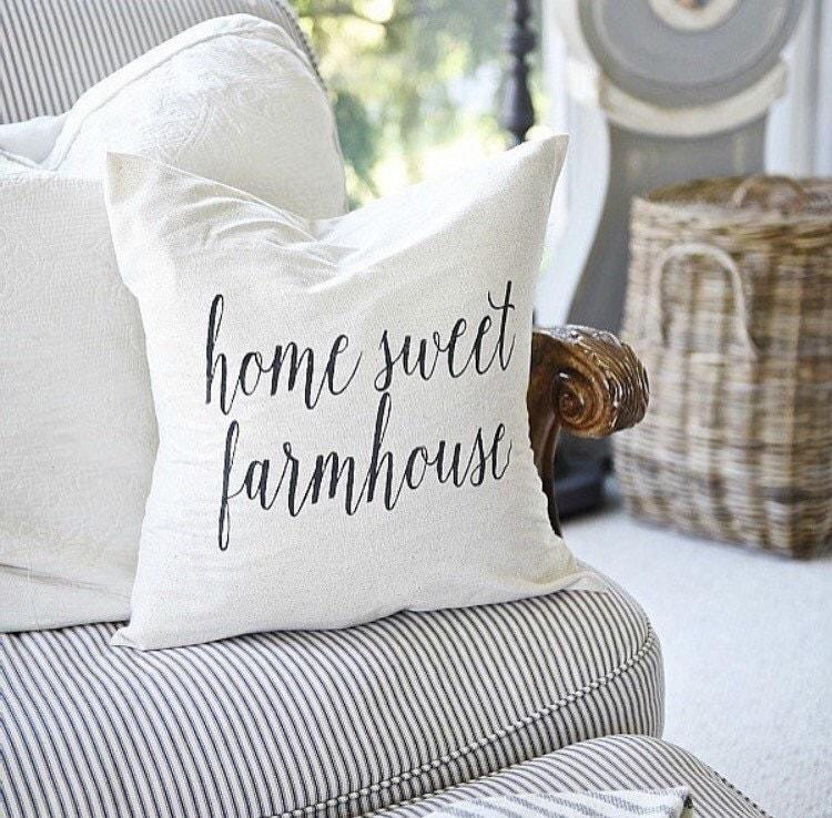 Canadian Inspired Home Decor Canada Pillow Via Etsy: Home Sweet Farmhouse Pillow