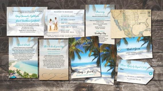 Destination Wedding Invitations Passport: Passport Wedding Invitations Booklets For Destination Weddings