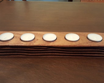 Wood Tea Light Holder
