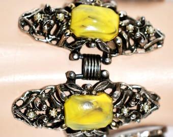Vintage Lucite Antiqued Bracelet