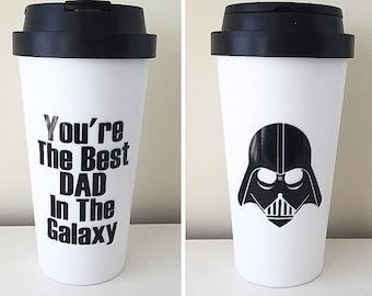 You're The Best Dad In The Galaxy Darth Vader Travel Mug, Darth Vader Mug, Star Wars mug, Dad mug; Father's Day; Darth Vader; Star Wars; Dad
