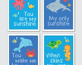 Sea Life Nursery Decor, Sea Life Themed Nursery, Sea Life Nursery Set, Sea