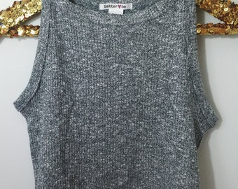 Heather Grey Sweater Crop