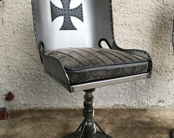 Custom Made Hand Crafted Hot Rod Bomber Style Chair