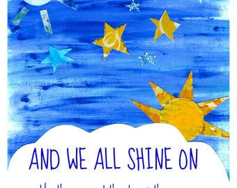 Shine On. John Lennon Nursery Print