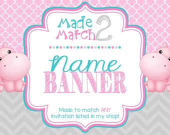 Made To Match: NAME BANNER