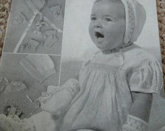 vintage baby accessories pattern