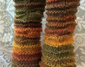 Autumn Fall Marble Rib Legwarmers