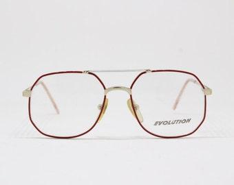 Rimless Glasses Hakim : Red optical frames Etsy