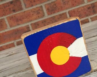 Mini Wood Sign, Shelf Sitter, Colorado Flag, Colorado Decor, Colorado Lover, #Colorado, Gift For Her, Gift For Him, Colorado Native Gift