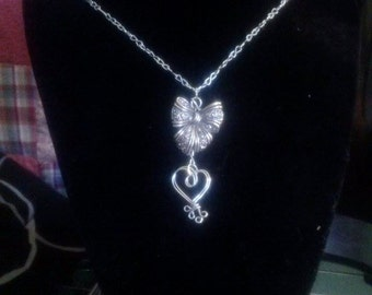Heart and Bow Pendant