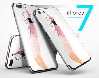 WaterColor DreamFeathers v4 - Skin Kit for the iPhone 7 or 7 Plus, 6 or 6s Plus, 5/5s/SE, 5c & More