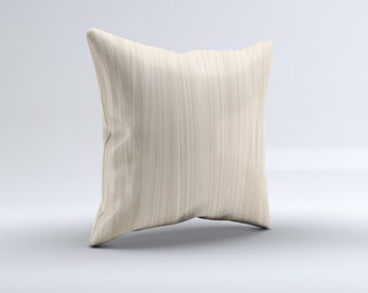 Natural WoodGrain Pillow ink-Fuzed Decorative Throw Pillow