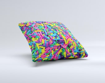 Neon Sprinkles ink-Fuzed Decorative Throw Pillow
