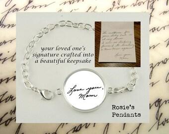 HANDWRITING Bracelet - Your Own HANDWRITING Bracelet - Keepsake Bracelet - Writing Bracelet - Hand Writing Bracelet - Custom Jewelry