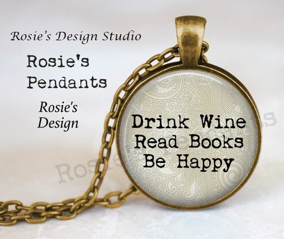 Reading Earrings: Love To Read Jewelry Drink Wine Read Books Be Happy Reader