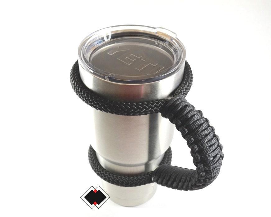 Yeti tumbler handle - black - custom handmade USA