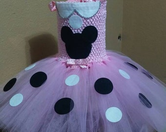 Disney inspired minni mouse dress.