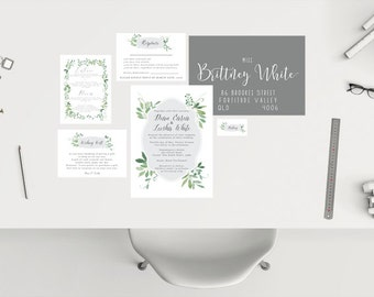 Wedding Package // Green and Grey